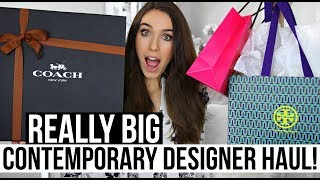 HUGE CONTEMPORARY DESIGNER HAUL & UNBOXINGS | Coach, Kate Spade & Tory Burch!