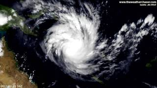 Satellite & Radar Timelapse - Tropical Cyclone Yasi
