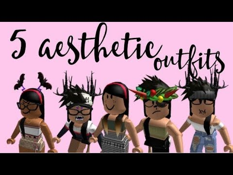 5 Aesthetic Roblox Girl Outfits Pt 2 Youtube