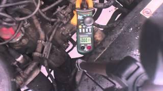 Пусковой ток стартера автомобиля с горячим двигателем