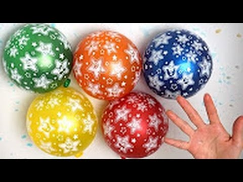 TOP Little STAR Wet Balloons   Mega Learn Colors Balloon Compilation   15 Minutes Finger Family