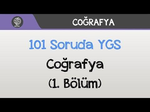 101 Soruda YGS Coğrafya 2016 (1.Bölüm)