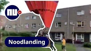 Luchtballon maakt noodlanding met hulp omstanders in Utrecht