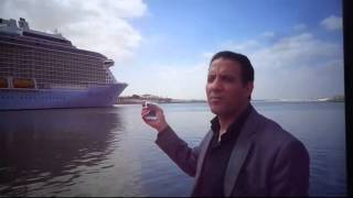 See cross the largest passenger ship in the world Suez Canal May 2015