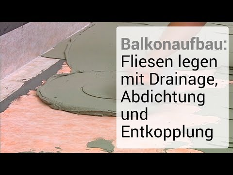 balkonaufbau fliesen legen mit drainage abdichtung und entkopplung youtube. Black Bedroom Furniture Sets. Home Design Ideas