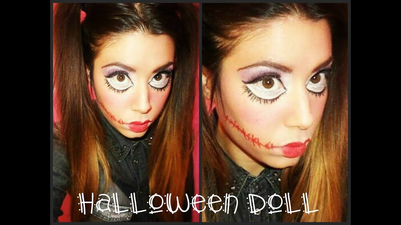 tutorial halloween doll makeup bambola assassina super facile x youtube. Black Bedroom Furniture Sets. Home Design Ideas