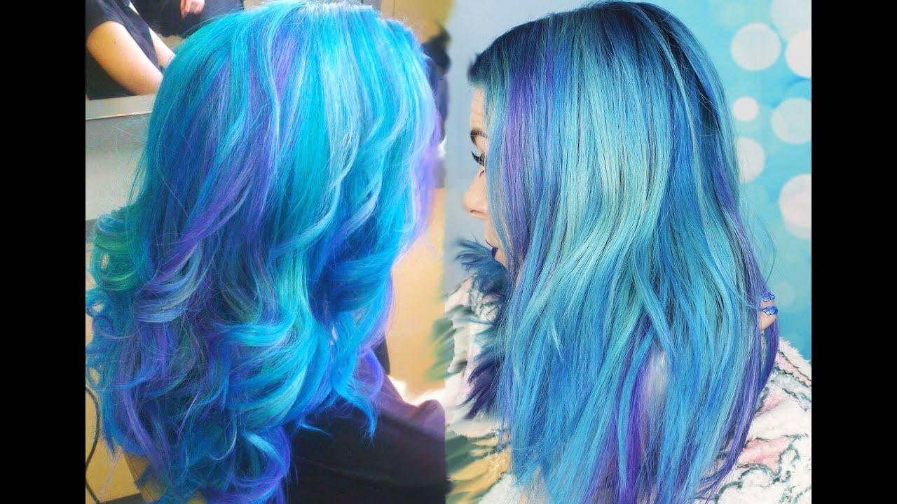 Galaxy Hair Tutorial Bunte Haare Tönen Auswaschbar
