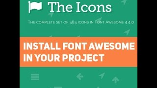 How to Install Font awesome in your Project