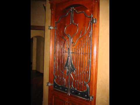 Custom Ironwork 14 Rustic Gun Cabinet Doors Youtube