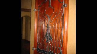 Custom Ironwork 14 Rustic Gun Cabinet Doors