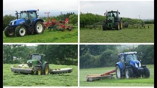 Silage 2018 Compilation - The Best Of Silage 2018 UK - Part 1 - Mowing, Tedding & Raking