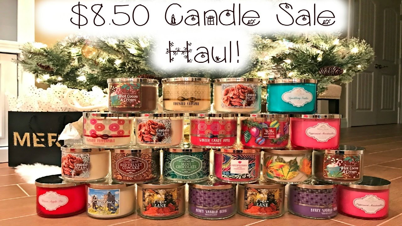 bath body works candle day sale haul december 2016 youtube. Black Bedroom Furniture Sets. Home Design Ideas