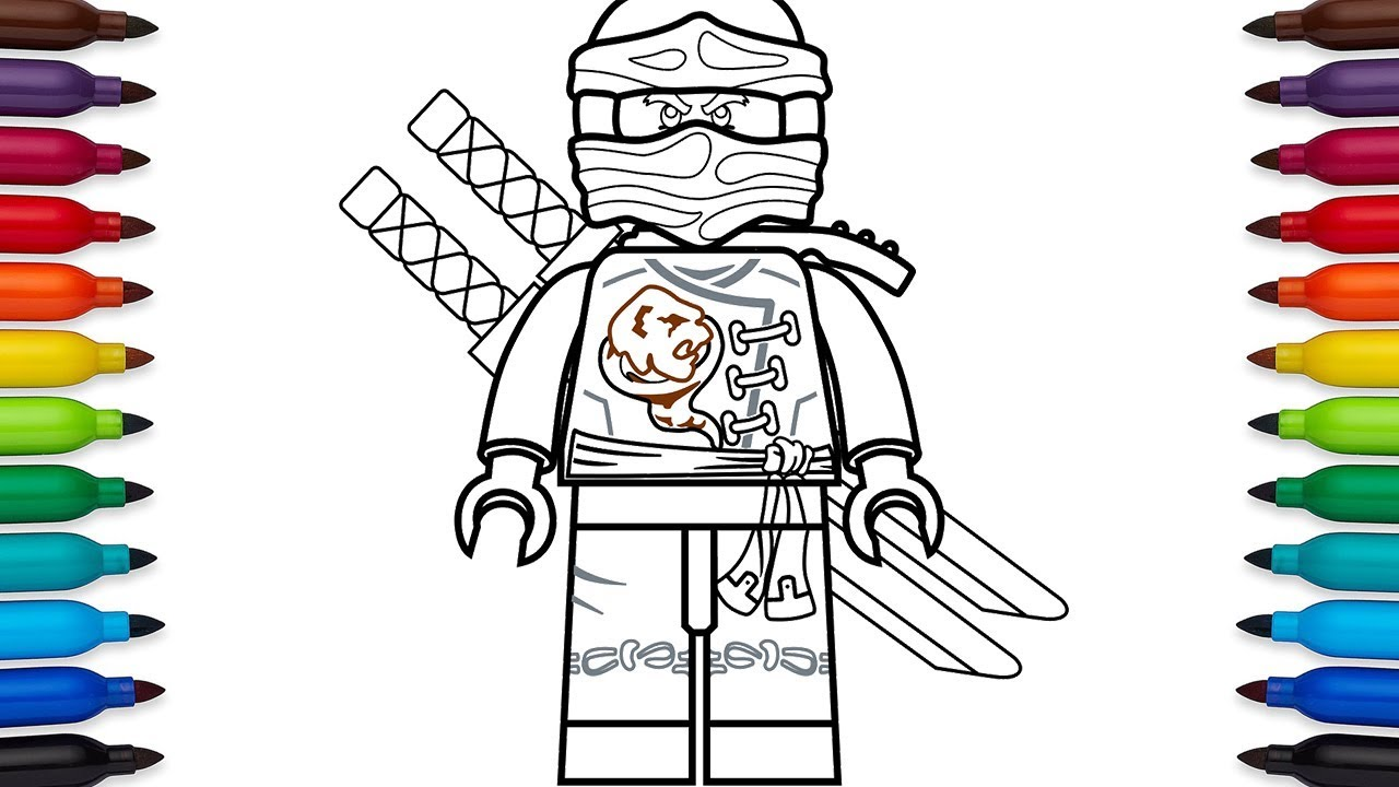How to draw Lego Ninjago Cole