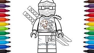 How to draw Lego Ninjago Cole - Skybound
