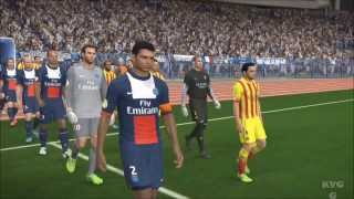 PES 2014 - PSG vs. FC Barcelona Gameplay [HD]