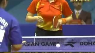 王楠VS孙贝贝 2006年亚运会女团决赛(第一场).flv