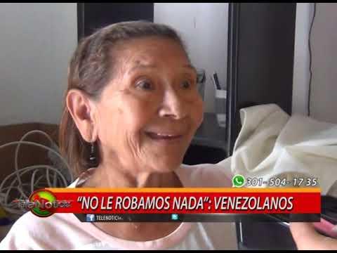 """Volver al modo de edición""""NO LE ROBAMOS NADA"""": VENEZOLANOS"""