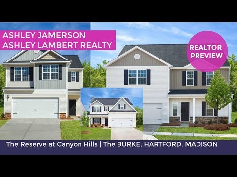 New Construction Homes in Charlotte, NC | Reserve at Canyon Hills | Burke, Hartford, Madison