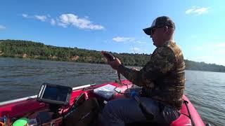Рыбалка в Нижнем Новгороде с лодки судакаберши на Джиг