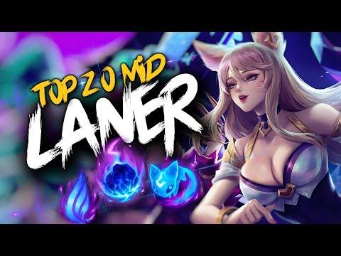 Top 20 MID LANER Plays #22 | League Of Legends thumbnail