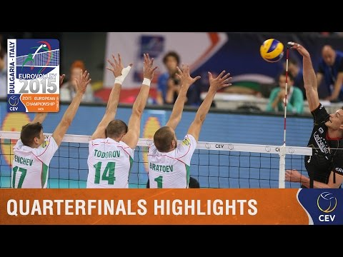 2015 Men's EuroVolley - Highlights Quarterfinals Bulgaria vs Germany