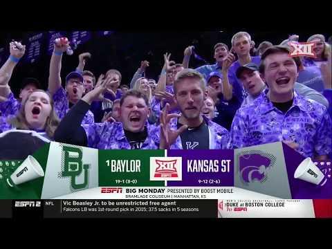Baylor Vs Kansas State Mens Basketball Highlights