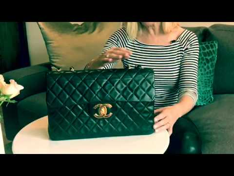 4f7dbf5ef9ad Chanel Bag Review | Vintage Jumbo XL Flap in Black Lambskin - YouTube
