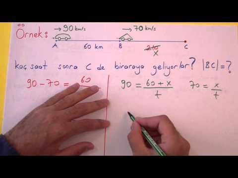 Hareket Problemleri - şenol Hoca Şenol Hoca Matematik
