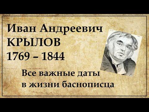 Иван Крылов хронология жизни по датам