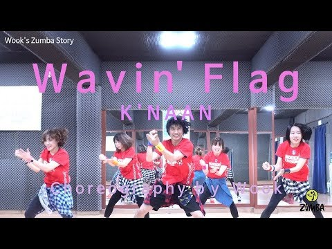 Wavin' Flag - K'NAAN / Ver. 1 / Easy Dance Fitness Choreography / ZIN™ / Wook's Zumba® Story