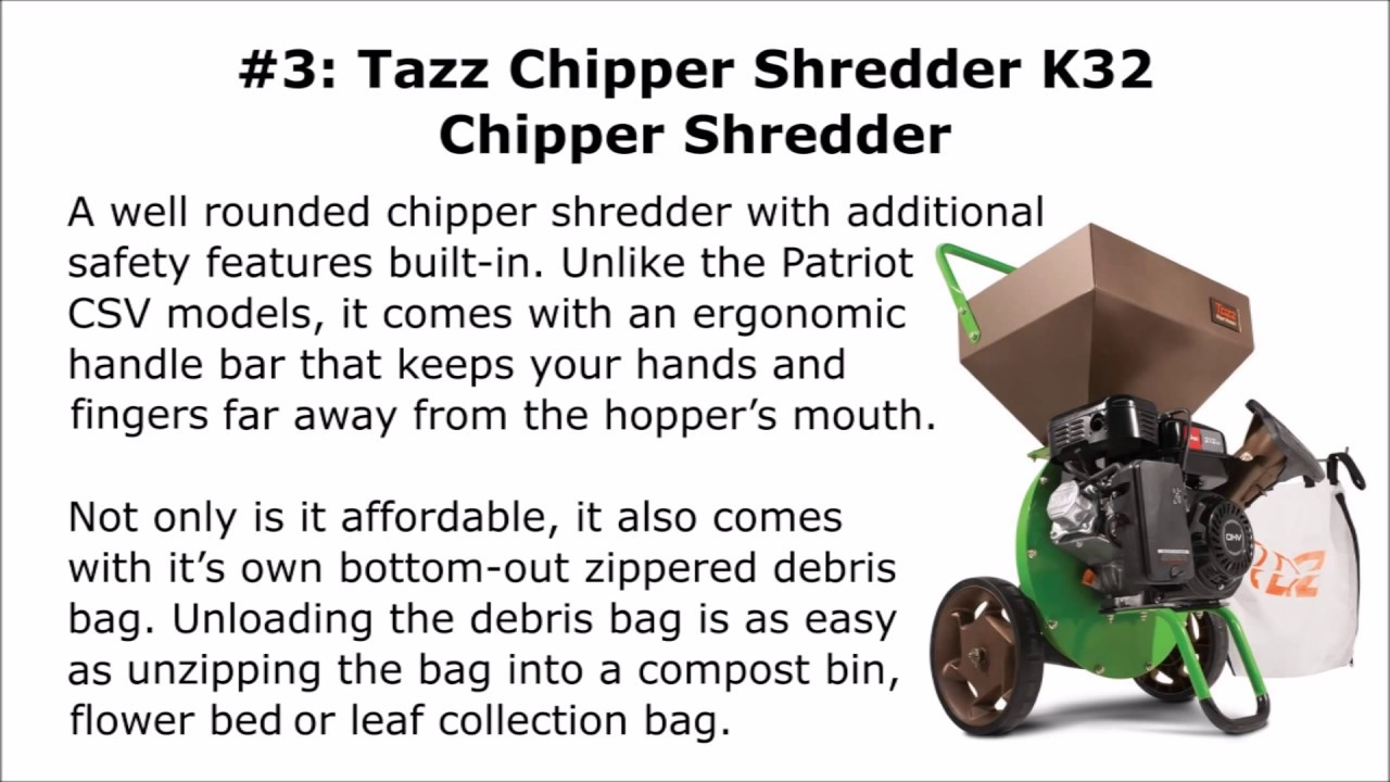 Top 3 Wood Chipper Shredder Reviews - YouTube