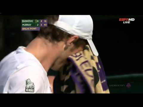 Andy Murray amazes the Wimbledon crowd & funny reaction by Gerard Butler