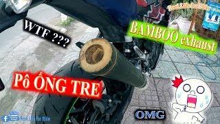 Độ pô Ninja 400 - PÔ ỐNG TRE - How to make BAMBOO Exhaust - | RLFR Hậu Hậu | - Vlog 4