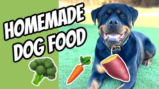 Homemade Dog food for my Rottweiler