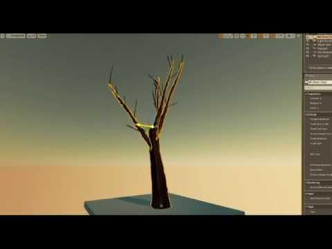 UE4 Semi-procedural Spline Tree System