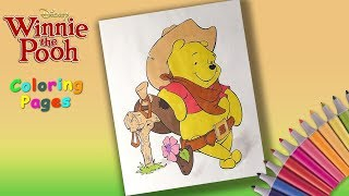 Disney Winnie Pooh Coloring book Winnie the cowboy coloring for kids