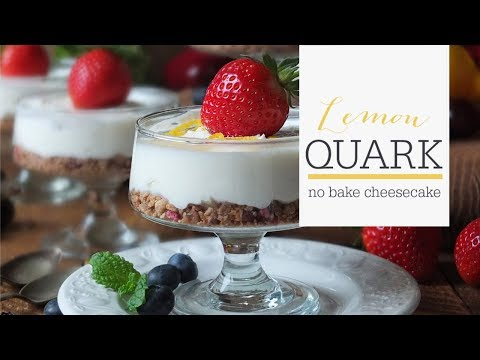 Low Calorie No Bake Quick & Easy Lemon Quark Cheesecake