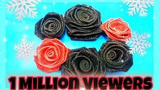 DIY foam sheet roses /How to make glitter rose /Foam Sheet Craft / glitter roses craft/part2