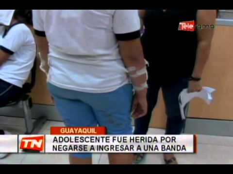 Adolescente fue herida por negarse a ingresar a una banda