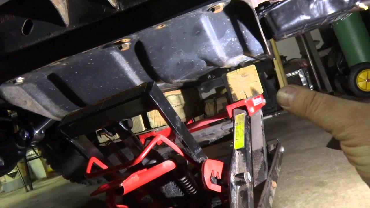 Jeep Tj Transmission Mount Bushing Replacement Diy Youtube Clock Spring Wiring Diagram