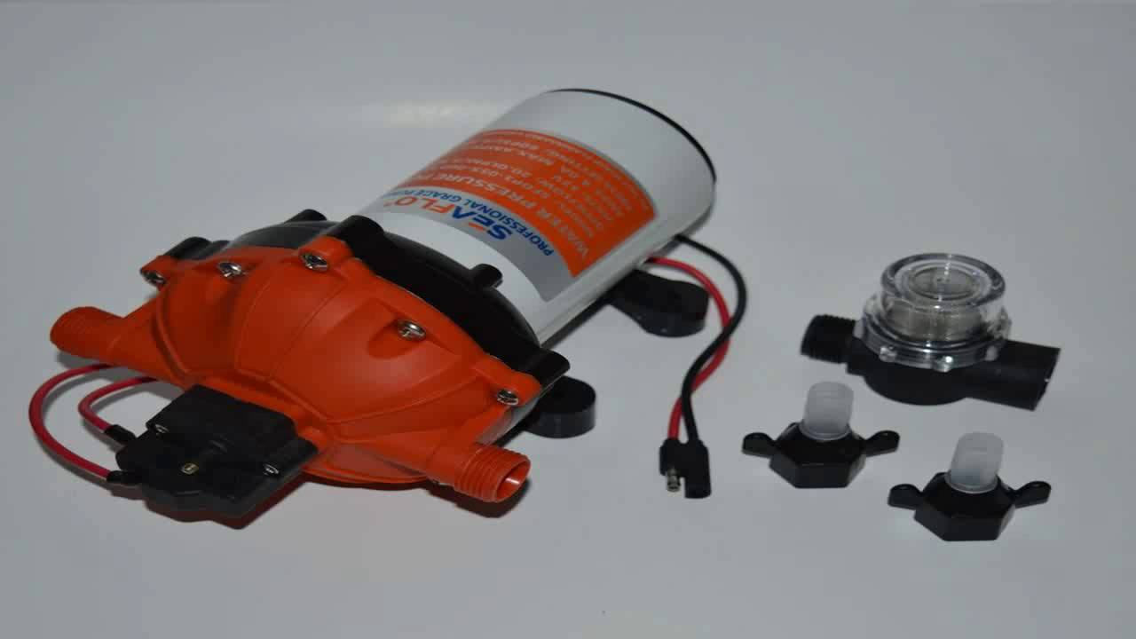 New 60 PSI 5.5 GPM High Pressure Marine Water Pump on Demand Boat 12 V DC