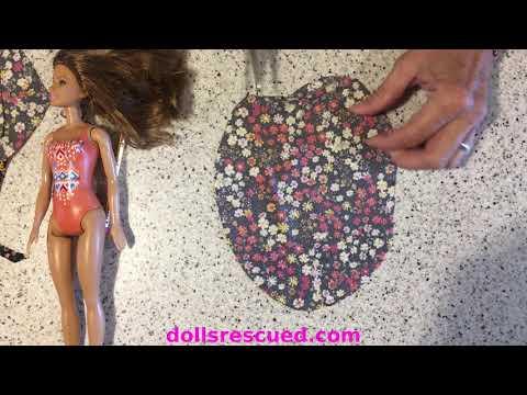 November Barbie or Troll Doll Long Distance Crafting Hacks DIY