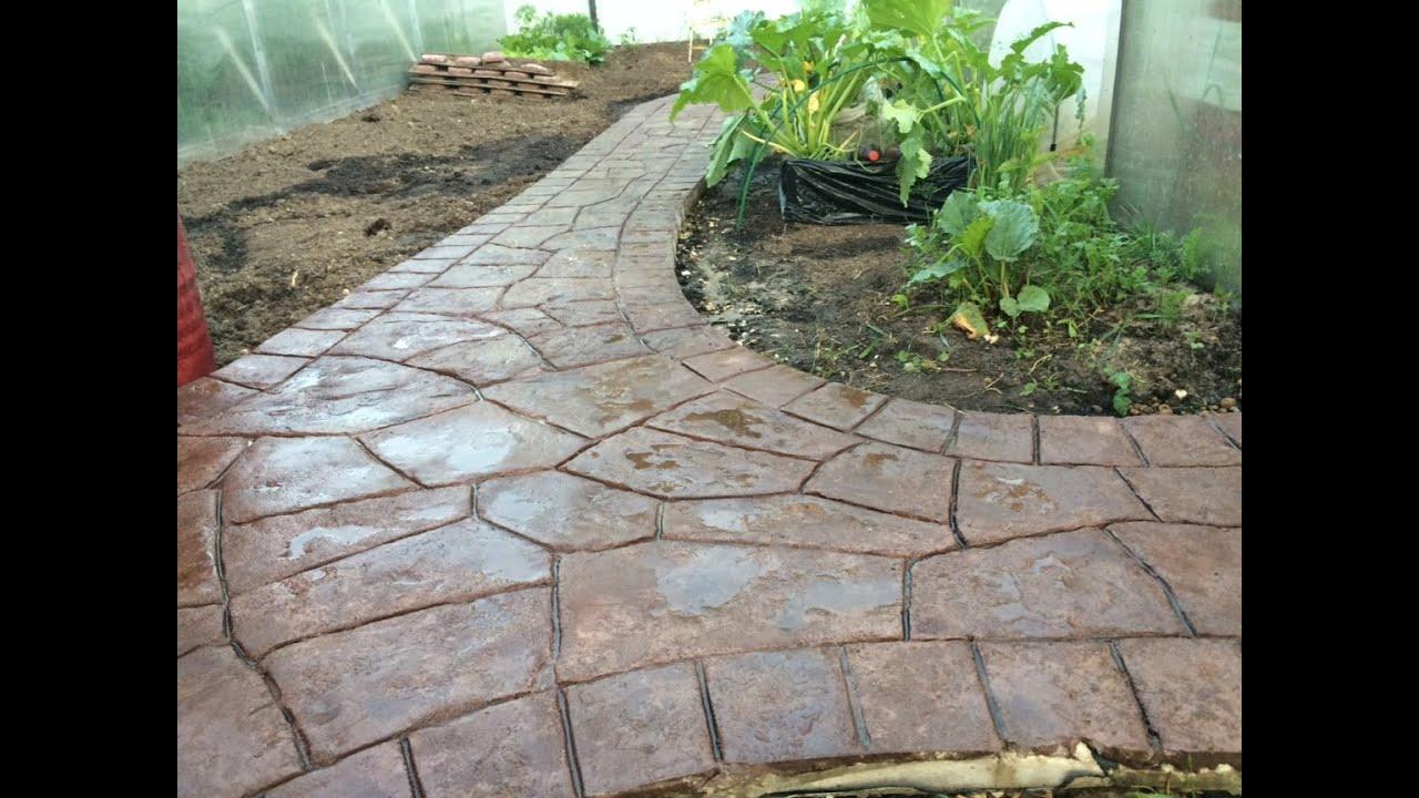 Садовая дорожка - форма трафарет для бетона / The form for making .