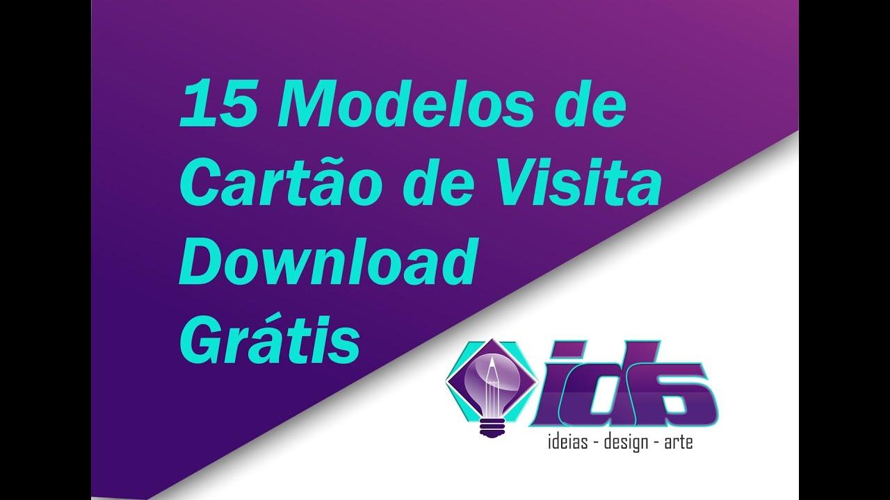 Famosos 15 Modelos Cartão de Visita Grátis - IDA | Ideias design arte  XD08