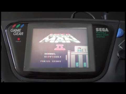 Megaman 2 Intro Master System - Game Gear Hardware Test