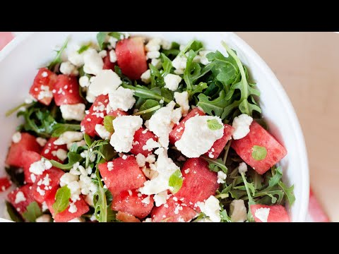 Quick Watermelon Feta Salad with Orange Dressing