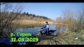Фідерна рибалка на річці Горинь