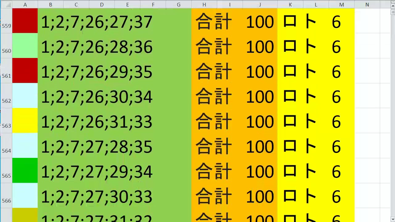 目 ロト 6 100 出