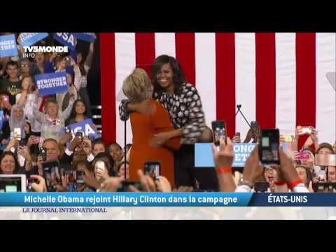 Michelle Obama rejoint Hillary Clinton dans la campagne