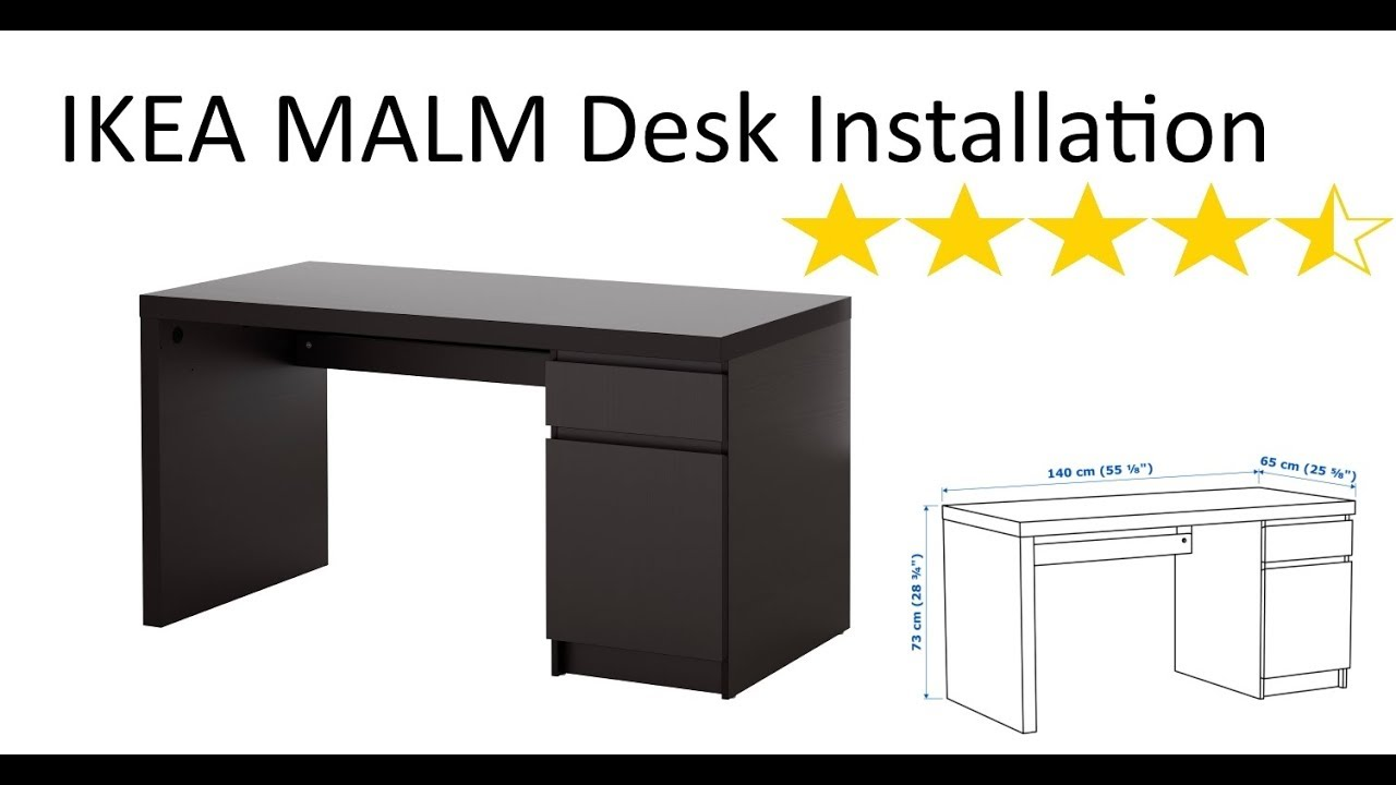IKEA Malm Desk Installation   YouTube